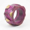 Bracelet en bois rose doré