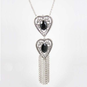 Collier Coeur double